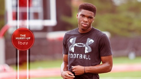 Jeffrey Okudah during an Ohio State visit this past summer.