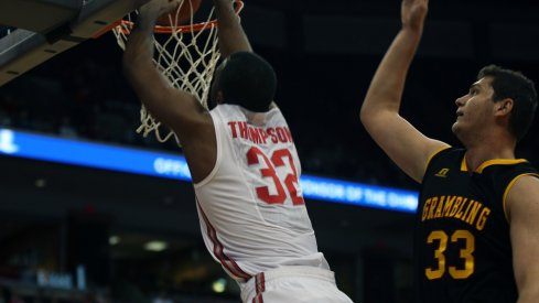 Trevor Thompson slams one home vs. Grambling.