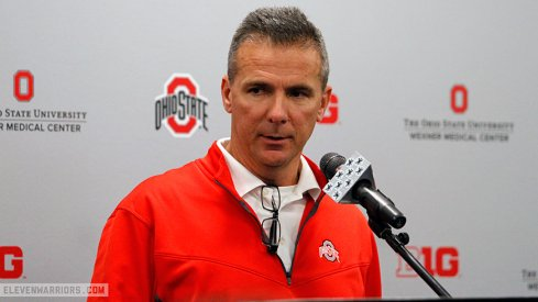 Urban Meyer meets the media Monday of Michigan week.