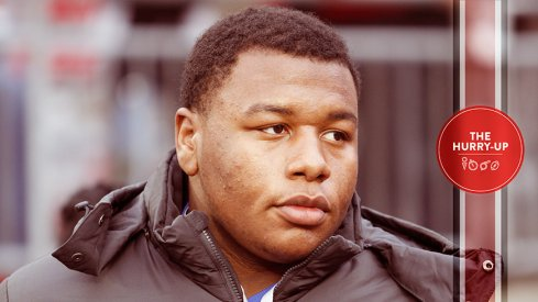 Dexter Lawrence during his official visit to Ohio State
