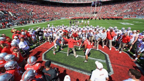 Circle drill during Ohio State's 2015 spring game.