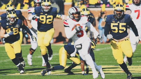 Braxton Miller tallied 286 total yards and five touchdowns versus Michigan in 2013.