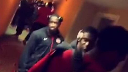 Ohio State football players find their hotel room keys don't work upon checking into their hotel in Michigan.