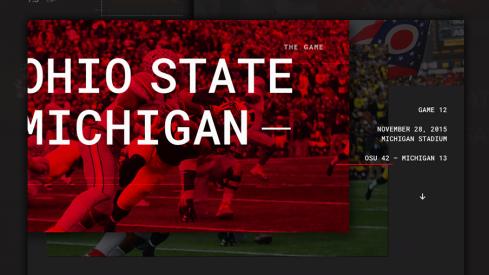 Ohio State Michigan Infographic