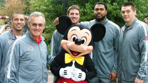 Jim Tressel and his Buckeyes took in Disneyland.