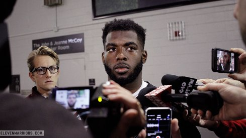 J.T. Barrett meets with the media Wednesday afternoon.