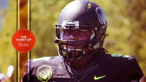 Rashan Gary during the 2014 Opening in Oregon.
