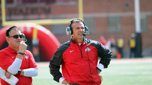 Urban Meyer and Ed Warinner are two of Ohio State's coaches that have ties to Notre Dame.