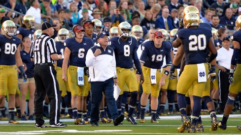 Brian Kelly sees Ohio State in the Fiesta Bowl as a chance to validate his Notre Dame program.