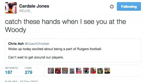 Cardale Jones will whoop that trick.