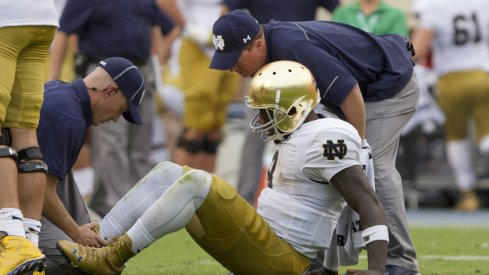 Malik Zaire suffered a fractured ankle in his team's second game of 2015.