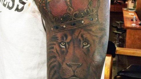 Cardale Jones' new tattoo.