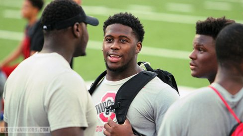 Antwuan Jackson during an Ohio State visit this summer.