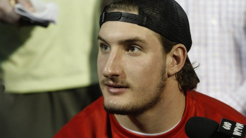 Joey Bosa meets with the media.