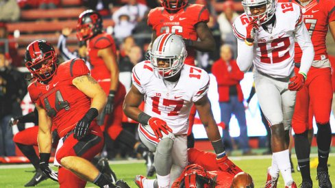 Jerome Baker performs the last rites over a Rutgers returner.