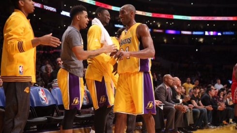 Kobe Bryant and D'Angelo Russell: Laker bosses.