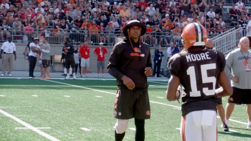 Terrelle Pryor at the Browns scrimmage in Columbus