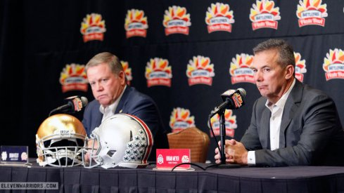 Urban Meyer and Brian Kelly meet with the media one final time ahead of the Fiesta Bowl.