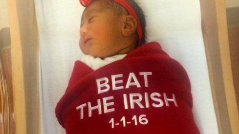 Beat the dang Irish.