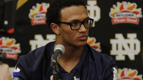 DeShone Kizer meets with the media at the Fiesta Bowl.