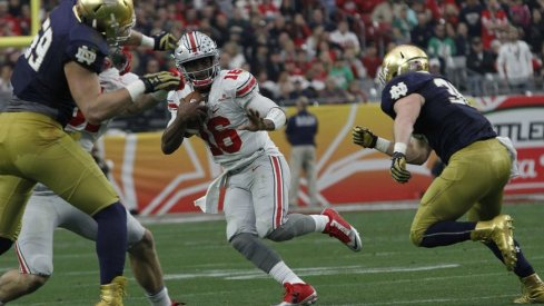 Barrett led Ohio State to great success on 1st down against the Fighting Irish.