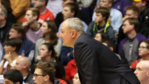 Thad Matta stalks the sidelines of Welsh-Ryan Arena