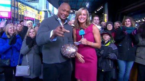 Eddie George makes an appearance on Good Morning America.