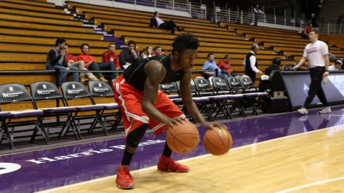 Kam Williams warms up before torching Northwestern.