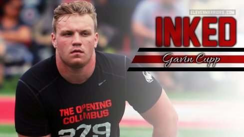 Gavin Gupp is officially a member of Ohio State's 2016 recruiting class.