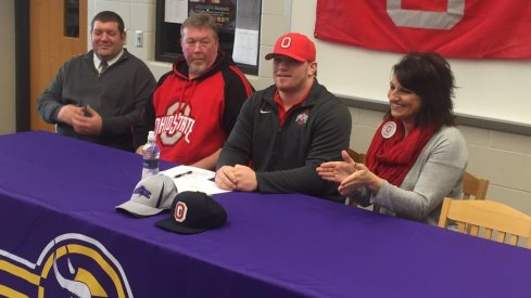 Gavin Cupp signs with Ohio State on Wednesday.