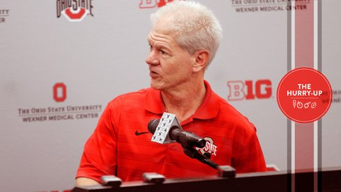 Kerry Coombs at Ohio State on National Signing Day.