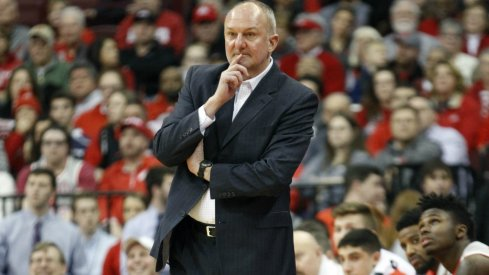Thad Matta looks on from the Ohio State bench