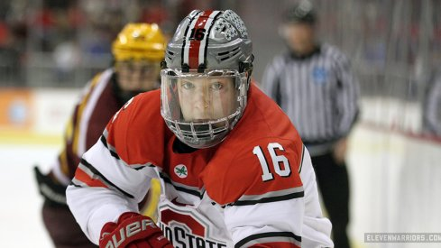Matt Weis and Ohio State men's hockey faces off against Minnesota