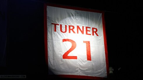 Evan Turner's No. 21 retired.