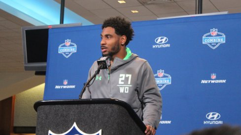 Photos from Thursday at the NFL Combine.