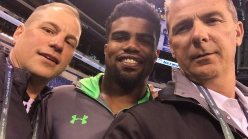 An Ohio State selfie at the NFL Combine.