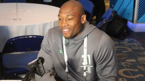 Photos from Friday at the NFL Combine.