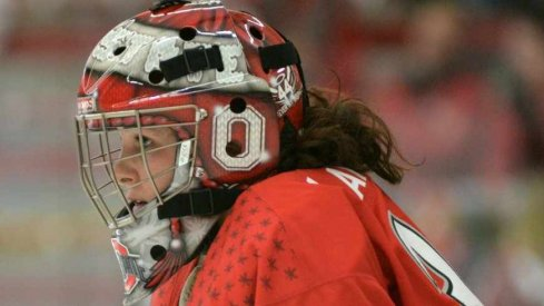 Ohio State goalie Alex LaMere stopped 39 shots in the Buckeyes' loss to Minnesota.