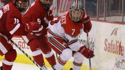 Ohio State forward Nick Schilkey is Big Ten Hockey's First Star of the Week.
