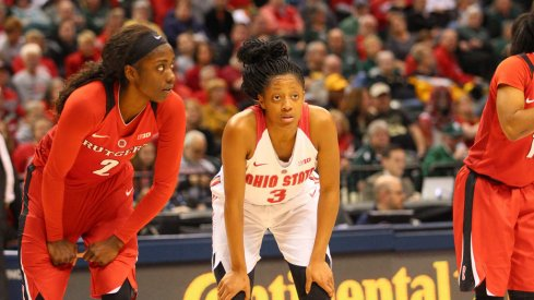 Kelsey Mitchell's 43 points led Ohio State by Rutgers Friday in the Big Ten Tournament.