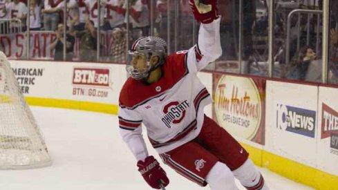 Dakota Joshua and Ohio State hockey upset No. 6 Michigan.