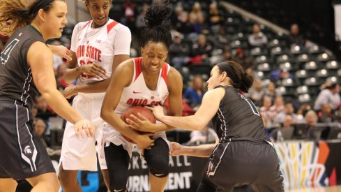 Kelsey Mitchell's performance was not enough to lift the Buckeyes past No. 4 seed Michigan State.