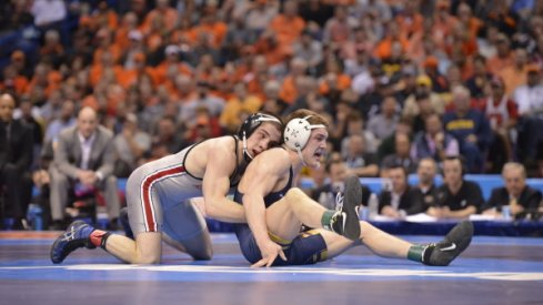 Nathan Tomasello heads to Sunday's B1G Tournament finals.