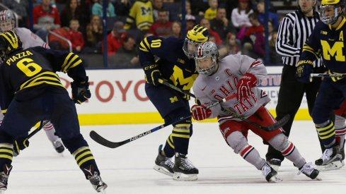 Nick Schilkey lifted Ohio State hockey to victory over No. 6 Michigan.