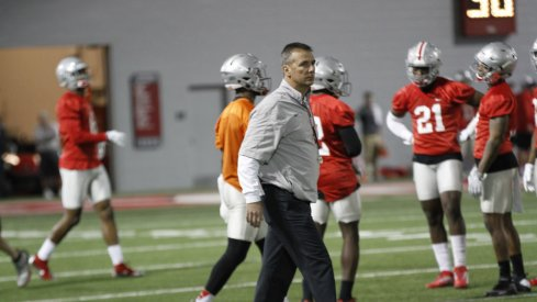 Urban Meyer outlined his goals for spring practice Tuesday at Ohio State.