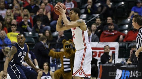 Ohio State surged past Penn State Thursday in the second round of the Big Ten Tournament.