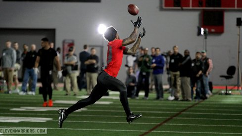 Braxton Miller going up for a catch.