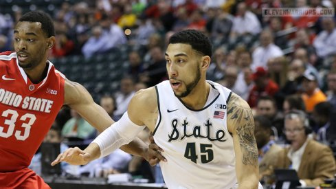 Michigan State ousts Ohio State from the Big Ten Tournament Friday in Indianapolis.