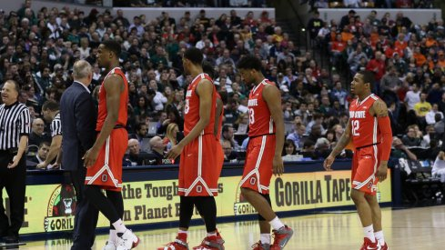 Ohio State walks off the floor against Michigan State.