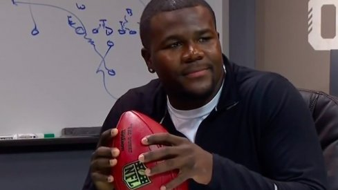 Cardale Jones explains why he threw without laces before meeting Urban Meyer.